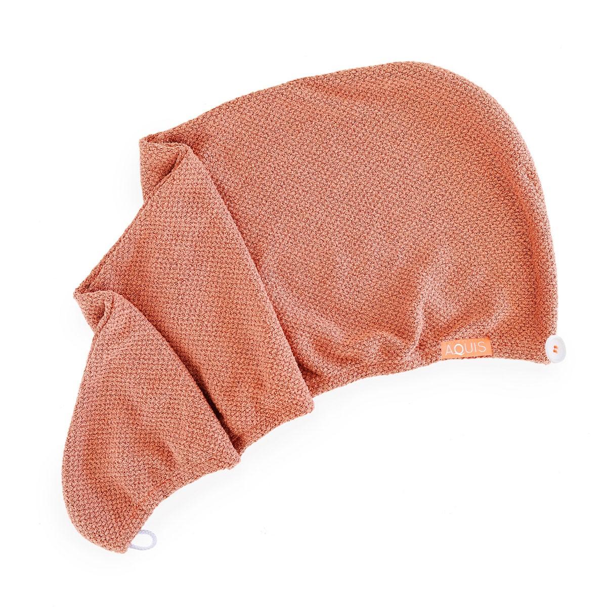 Aquis Copper Sure Rapid Dry Hair Wrap - toalla para secar el cabello rapido